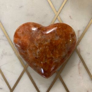 2 for $10 Orange quartz modern decorative heart
